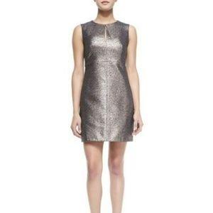 DIANE VON FURSTENBERG Yvette Metallic Dress NWT 6